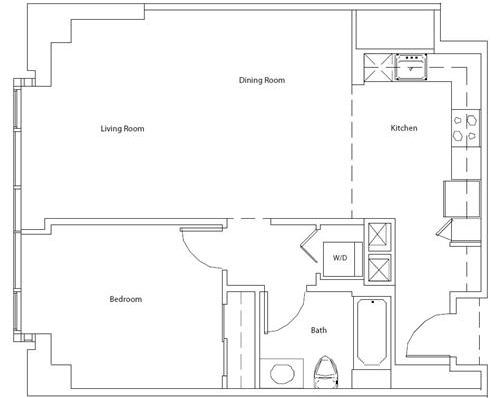 The Beacon #555 Floor Plan