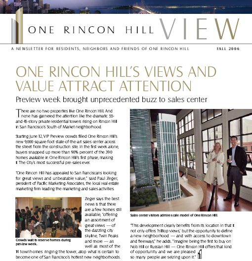 One Rincon Newsletter Fall 2006