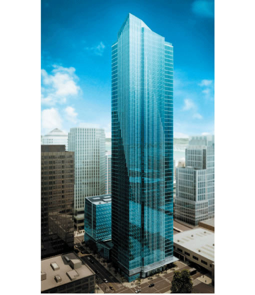 The Millennium Tower San Francisco: Rendering (Image source: millenniumtowersf.com)