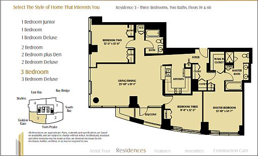 One Rincon Hill floor plan