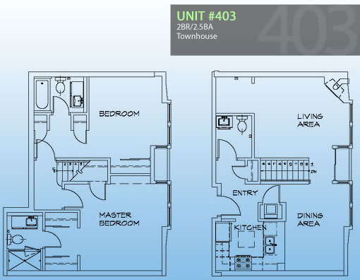 3208 Pierce #403: Floor plan