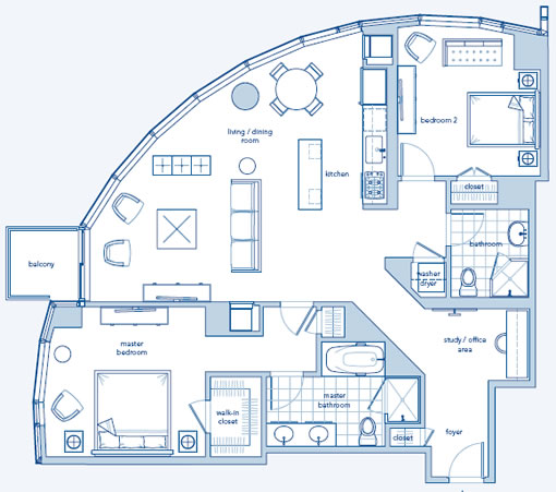 The Infinity: 37F Floor Plan (Images Source: