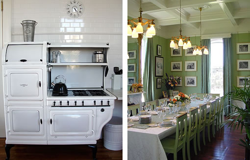 The Palmtag Muzzio Bowen Mansion: Stove/Dining