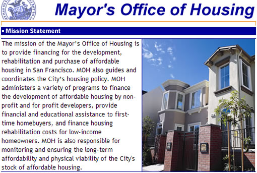 San Francisco's Mayor's Office of Housing