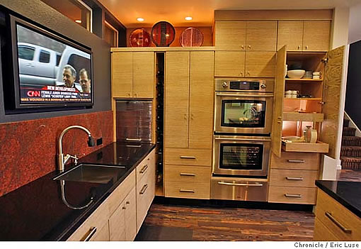 oakland kitchen remodel image source sfgate - Kitchen Wall Oven Cabinets