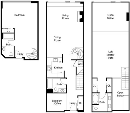 2412 Harrison #106: Floor Plan