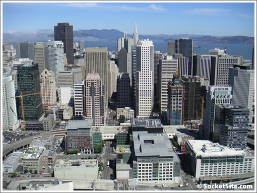 A view of San Francisco from the 59th Floor of One Rincon Hill