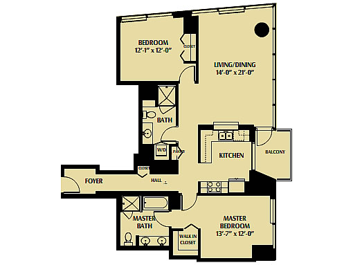 One Rincon Hill: '02' Floor Plan