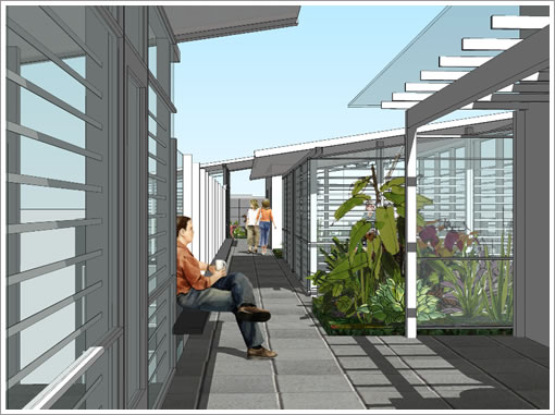 766 Harrison: Rooftop Patio Rendering
