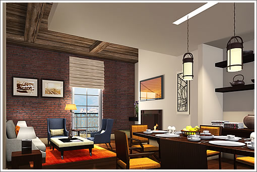 Fairmont Heritage Place, Ghirardelli Square Living Room Rendering