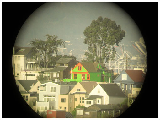 Green house atop Potrero Hill as captured by 'oscar champagne'