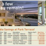 At Least Five Condos Remaining At Park Terrace And Cuts Up To 11%