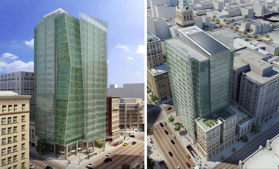Green Building Over In Oakland And Over BART (1100 Broadway)