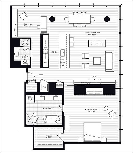 301 Mission #502: Floor Plan