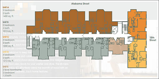 601 Alabama: Floor Plans