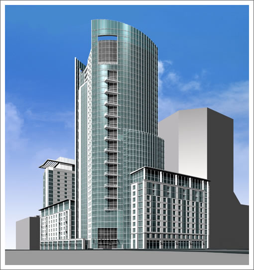 Crescent Heights (1401 Market) Rendering (Image Source: hellermanus.com)
