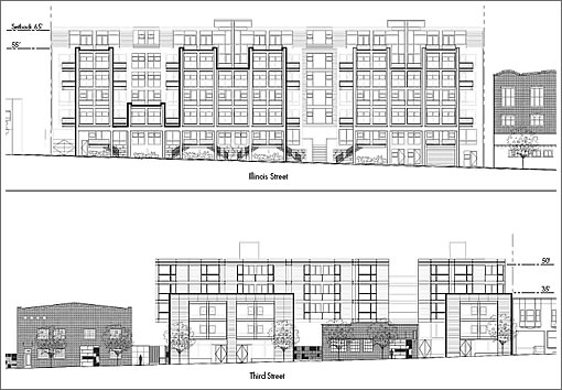 2225-2255 Third Street: Elevations