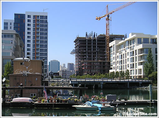 Avalon at Mission Bay III Rising Up Across The Creek (www.SocketSite.com)