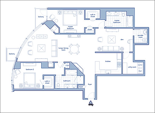 301 Main Street #4B: Floor Plan