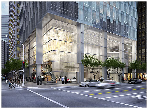 350 Mission Street: Entrance Rendering