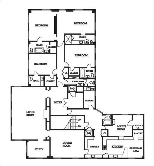 945 Green #9: Floor Plan