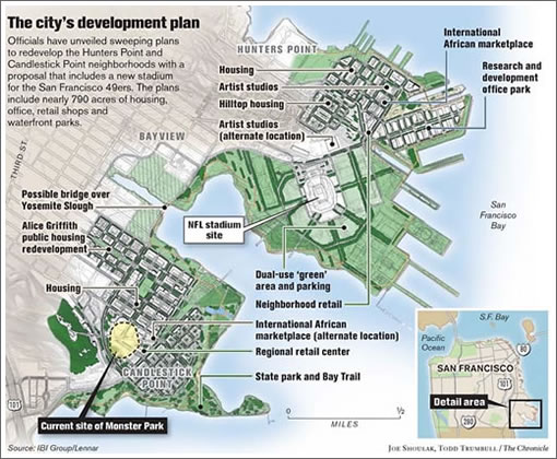 Chronicle Graphic: Hunters/Candlestick Point Redevelopment Plan
