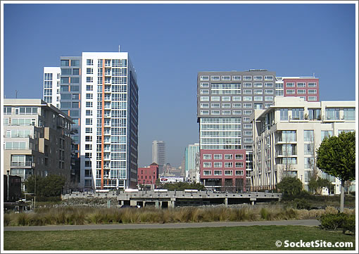 North Mission Bay from across Mission Creek (www.SocketSite.com)