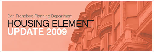 San Francisco Planning Department Housing Element 2009