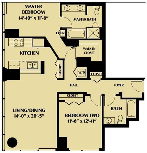 One Rincon Hill: 06 Stack Floor Plan
