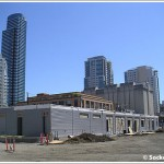 Temporary Transbay Bus Terminal: First Prefab Buildings Placed