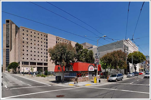 10th and Mission: Before (Image Source: MapJack.com)