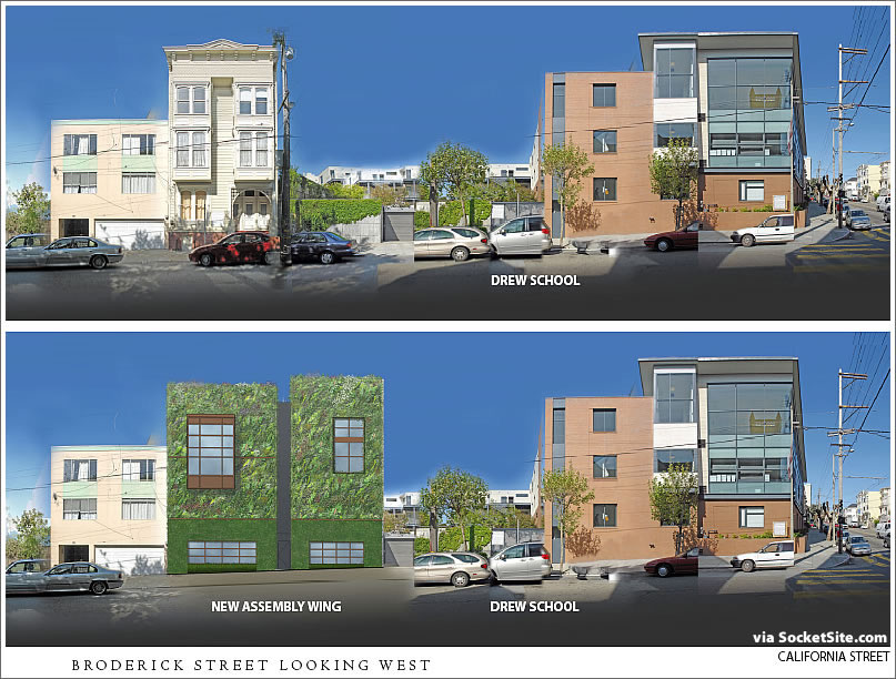 The Drew School Addition Rendering Scoop: Its Living Wall And All