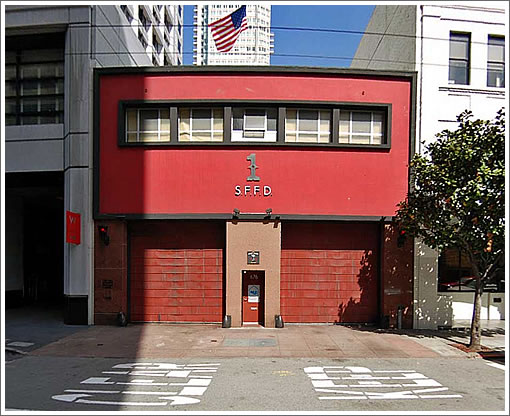 San Francisco Fire Station #1 (Image Source: MapJack.com)