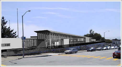 Ortega Branch Library Rendering