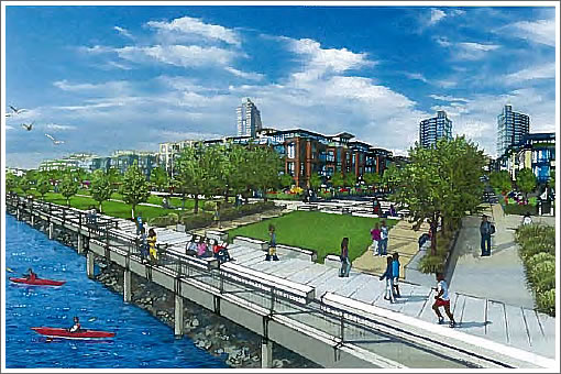 Proposed Hunters Point Waterfront Promenade