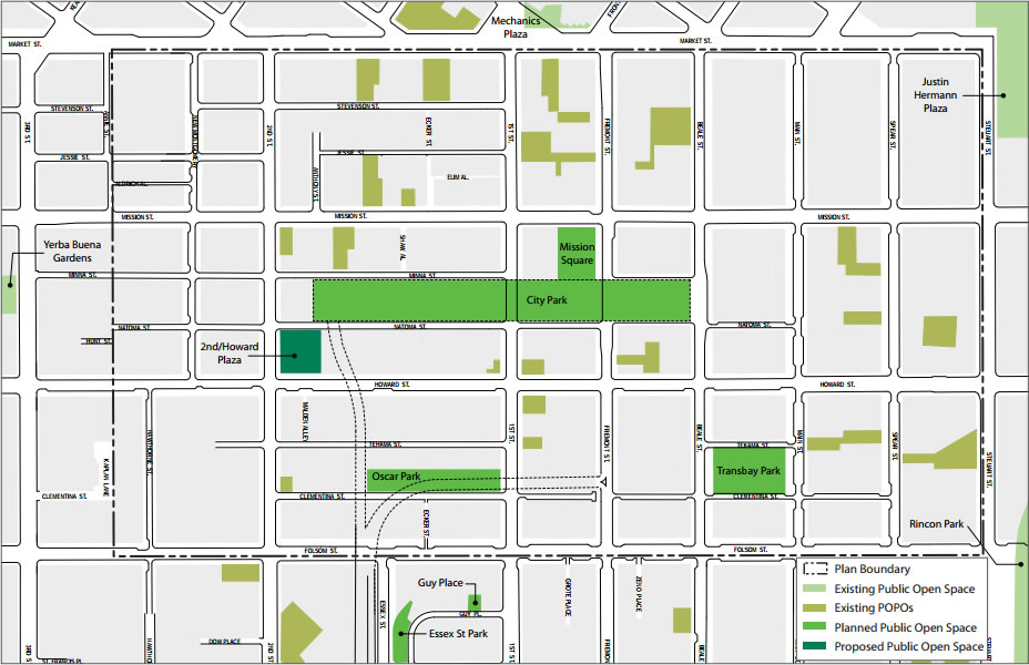 Transbay District Parks Plan