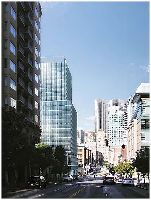 222 2nd Street Rendering (Looking north on 2nd)