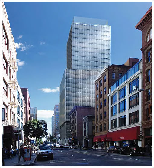 222 2nd Street Rendering (Looking south on Second)