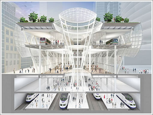 Transbay Transit Center Cross Section