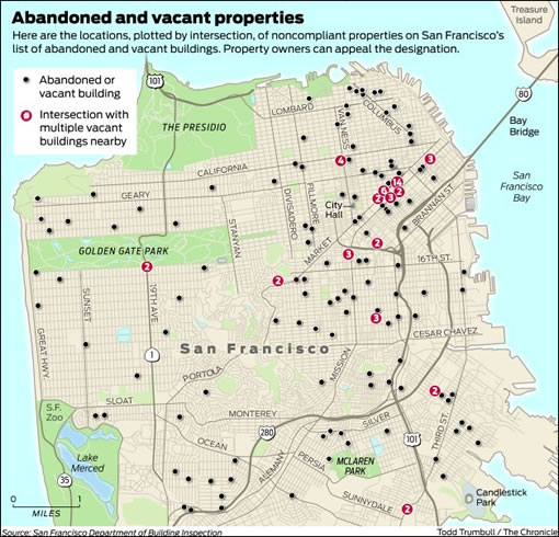 Chronicle Graphic: Abandoned Properties