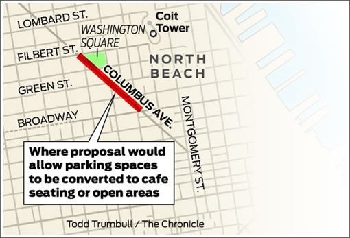 Chronicle Graphic: Proposed North Beach Parking Space Conversion Zone