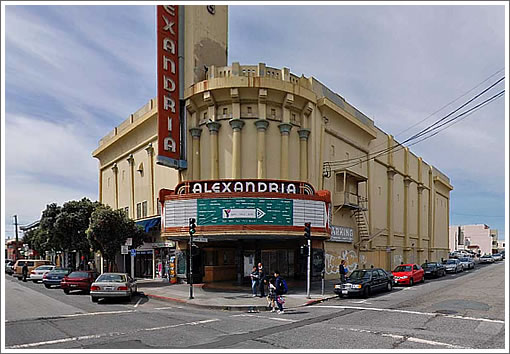 Alexandria Theater at 5400 Geary (Image Source: MapJack.com)