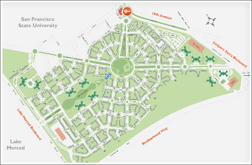 Park La Brea Map | compressportnederland