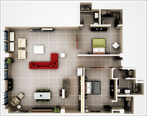 410 Jessie #502 Floor Plan