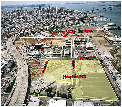 UCSF Mission Bay Campus Aerial Map