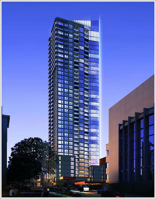 45 Lansing Night Rendering