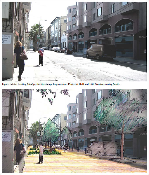 Mission District Streetscape Plan Project Example