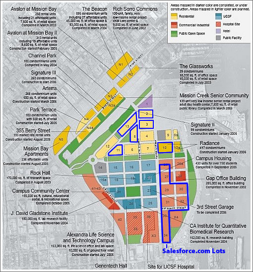San Francisco Light Industrial Zoning: Mission Bay Neighborhood Block And