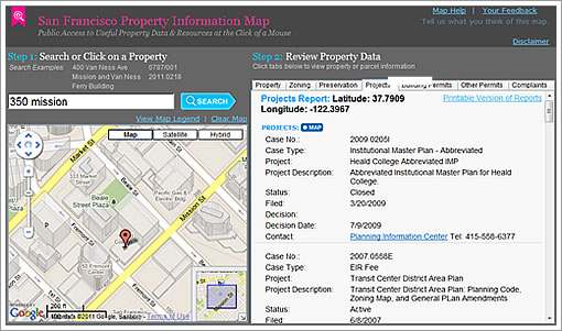 San Francisco Property Information Map