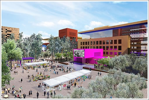 Salesforce Mission Bay Rendering: Plaza